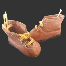 For bleuette doll : GL leather shoes brodequins 1930-40