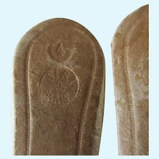 pair of leather shoes incised 4 and SFBJ PARIS