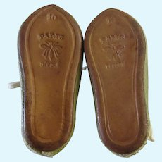 Jumeau size 10 . original shoes & socks. oilcloth
