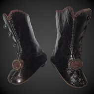 Jumeau boots size 2 for fashion doll, incised 2 J