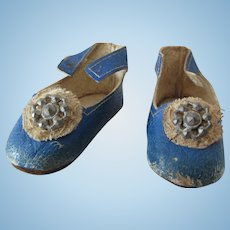 French leather shoes size 00 period 1880