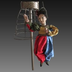 "22 1/2"" Wood Puppet XIX° era . marionette"