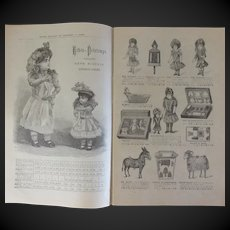 1890 original catalog ETRENNES department store AU PRINTEMPS