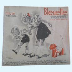 original Catalog for Bleuette clothes Winter 39-40