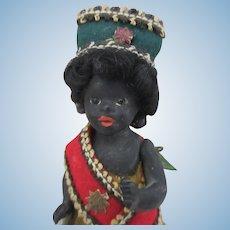 "3.5""-4"" Black all bisque doll all original"