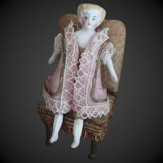 """3 1/3"""" antique doll for Dollhouse"""