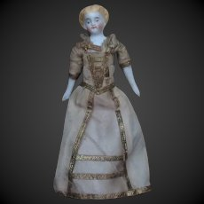 """4 1/3"""" antique doll for Dollhouse"""