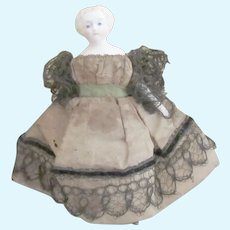 "3 1/3"" fine antique doll for Dollhouse"