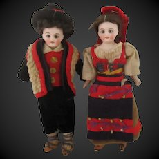 all original couple of dolls for dollhouse from Kling N° 123