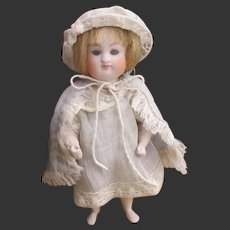 """5 1/8"""" Kestner all bisque doll with barefoot not perfect"""