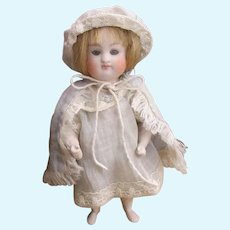 "5 1/8"" Kestner all bisque doll with barefoot not perfect"