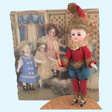 """French all bisque doll 5 1/8"""" all original"""