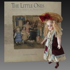 """7 """" beautiful French all bisque doll with rare brown boots"""