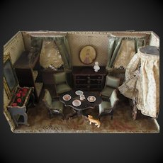 Room Box with furniture,doll,accessories for mignonette