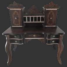 Biedermeier lady's desk for mignonette,doll house,vignette