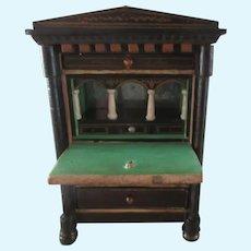 "drop leaf dollhouse Secretary Desk Ht 4 3/4"""
