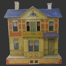"""Gottschalk dollhouse with furniture & dolls 21""""x18"""""""
