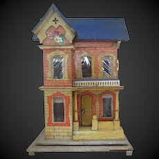 small Dollhouse 13 x 9 x 6 in c. 1900