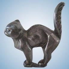 """antique lead Cat for a dollhouse 2"""" x 1 3/4"""""""