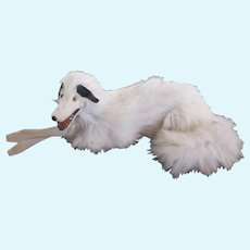 "lying Borzoi salon dog for fashion doll display 10.5"" x 4"""