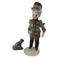 "antique lead Dog for a dollhouse 1 1/3"" x 1 1/3"""