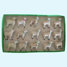 "15 antique german Sheep Ht 2"" Wt 1 3/4"""