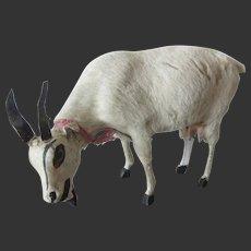 """beautiful Goat 3 1/2""""x2 1/3"""" in paper mache and skin"""