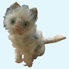 1930 Steiff cat Fluffy blue tipped . Tail Turns Head