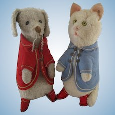1905 couple of STEIFF with blank button Peter Rabbit friends