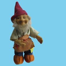 STEIFF : dwarf Gucki 13 cm with Ids 1960's