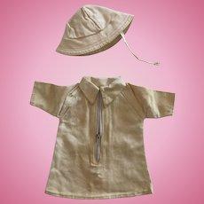 original G.L. clothe : 'TERRE NEUVE' period 1940 for Bleuette
