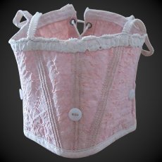antique French Bebe  corset for a doll size 7