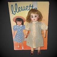 original G.L. outfit 'au thé' for Bleuette doll, 1937