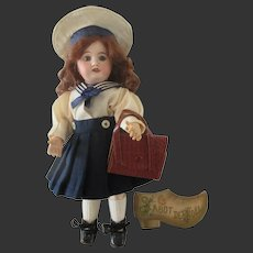 original GL school bag for Bleuette doll circa 1950