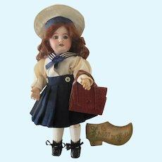 original GL school bag for Bleuette doll circa 1950