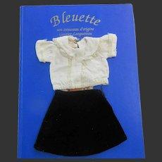 original G.L. outfit ' ELLE ' for Bleuette doll 1939