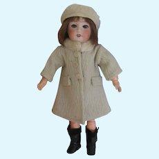 original G.L. outfit 'Frimas' for Bleuette doll, 1940, 2 pieces