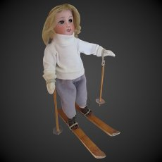 for Bleuette doll : original G.L. ski set , 1950