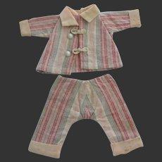 original G.L. pajama ' 8 HEURES ' for Bleuette doll 1926