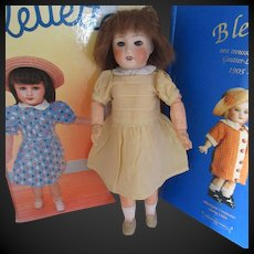 original G.L. standard dress for Bleuette doll, 1940