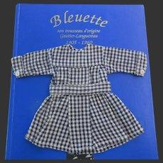 original G.L. apron 'Enfant sage' for Bleuette doll 1933