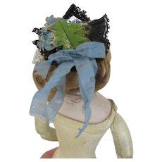 "Original hat for french fashion doll 12.5""-13"""