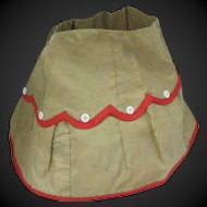 antique taffeta skirt for Fashion doll or Bebe, Ht 7 ""
