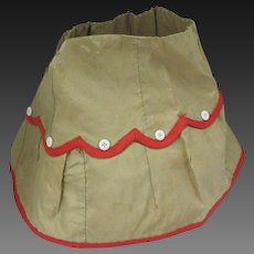 antique taffeta skirt for Fashion doll, Ht 7 ""