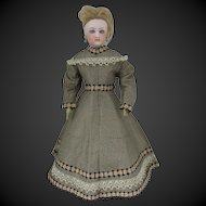 "antique dress for a 13 3/4"" French fashion doll"