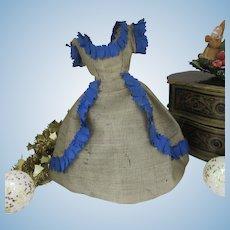 "Original dress for a 15"" French fashion doll"