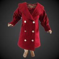 Factory coat for a Bebe Jumeau size 10
