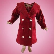 antique coat for a Bebe Jumeau size 10