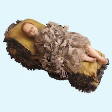 """antique Jesus wax child in used condition 6 1/8"""""""