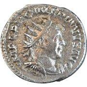 Roman Billon coin Antoninianus of Valerian I 253-260 AD Apolini Propugnatori